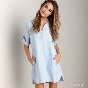 a9d347d56bdb Cloth and Stone Womens Size Large Chambray